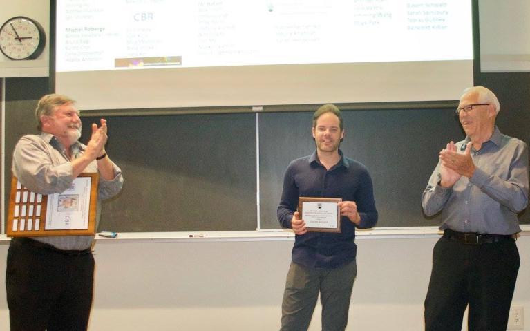 L-R Dr. Ross MacGillivray, Dr. Jurgen Niesser, and Mr. Roger Page