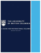 A Guide for Postdoctoral Fellows (Updated June 2017)